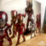 photo d'une plaque aluminium sublimée et personnalisée avec une photo d'Iron man