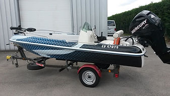 bateau barque covering marquage vehicule