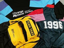 veste club sportif personnalié jaune vert bleu