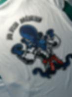 T shirt avec marquage en sublimation à l'image du club de jiu jitsu brésilien