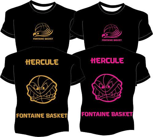 Tee-shirt Club rose ou doré