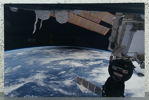 Eclipse vue de l'ISS - Tableau en aluminium