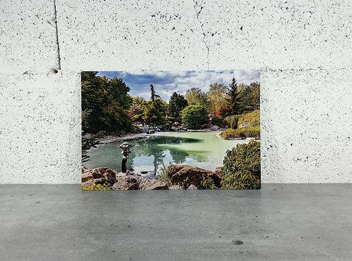 Plaque aluminium Le jardin japonais de Dijon