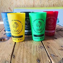 gobelet réutilisable écocup verre cup monochrome dijon