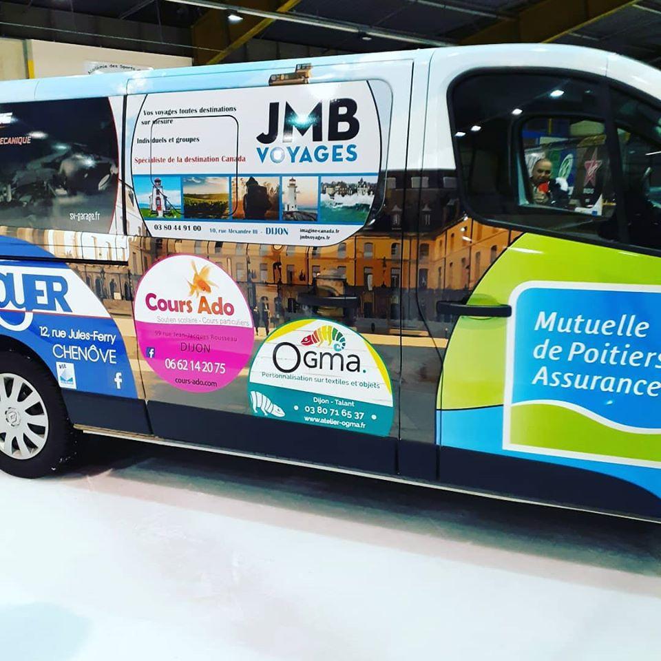 Mini bus hockey dijon sponsor
