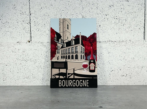Plaque aluminium Bourgogne