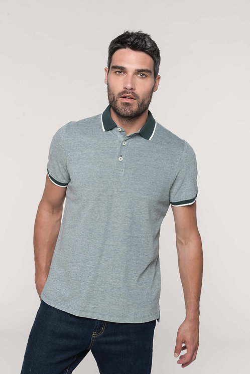 K266 - Polo bicolore homme