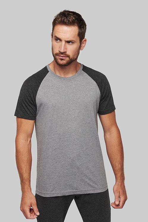 T-shirt Triblend bicolore sport manches courtes