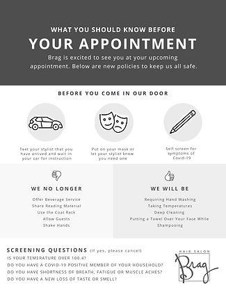 Brag Hair Salon - Covid-19 Client Instru