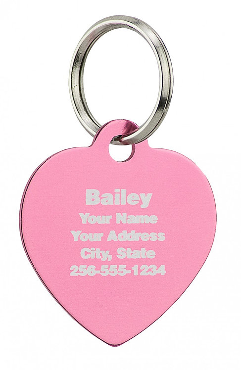 """Large Engravable Heart Tag (1-1/2"""" WIDTH X 1-1/4"""" HEIGHT)"""
