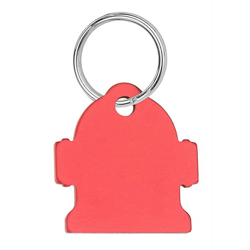 """Small Red Engravable Hydrant Tag (7/8"""" WIDTH X 1-1/8"""" HEIGHT)"""