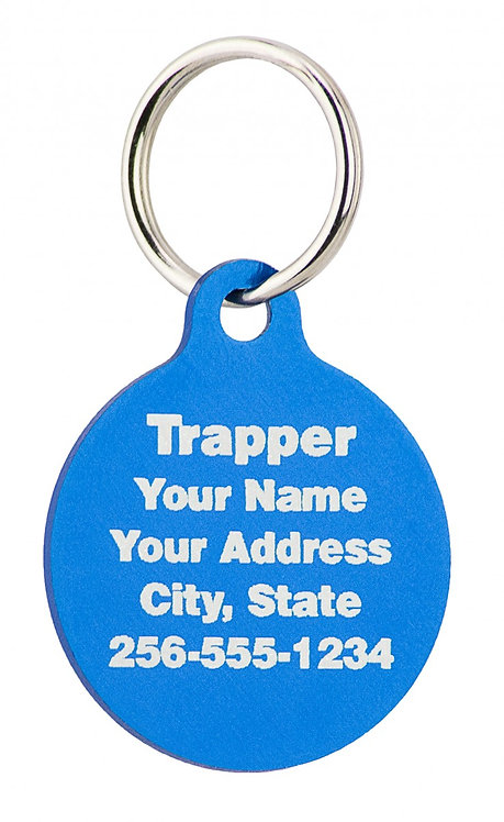 "Small Engravable Circle Tag (7/8"" WIDTH X 1"" HEIGHT)"