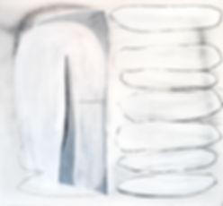Seven Suitors,2019, 50x46x1.5, gesso, la
