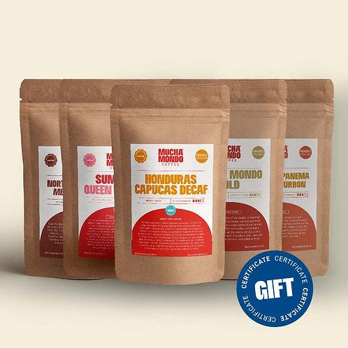 5 x Taster & Gift Certificate Pack
