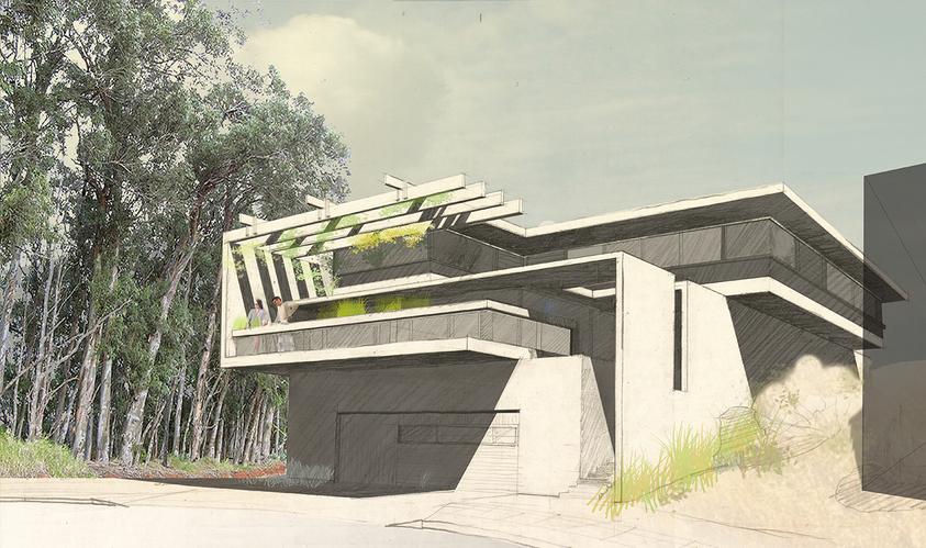 2014 5 27 90 deg house w eucalypt crpd n