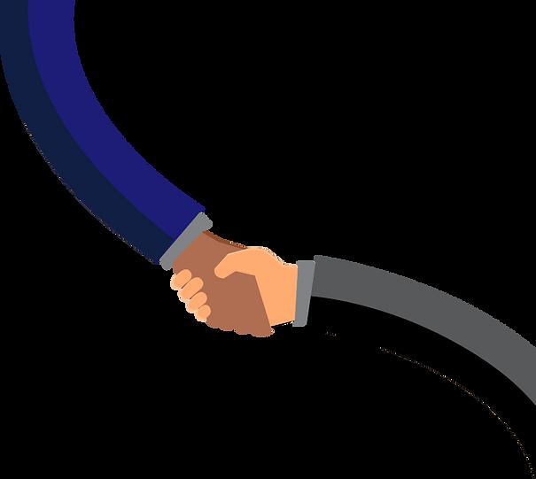 Referral Partnership Subcontractor Handshake