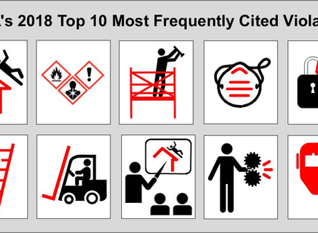 OSHA Top 10 Most Frequently Cited Violations