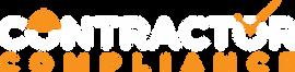 Contractor Compliance Logo White Knockou