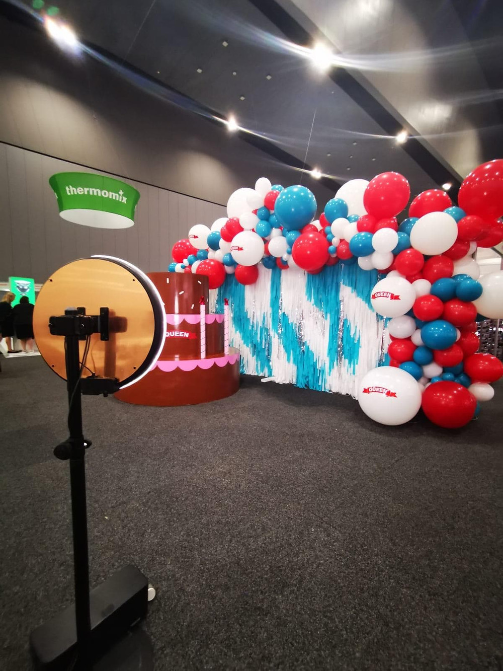 GIF photo booth and custom backdrop at the Cake Bake and Sweets Show - Melbourne