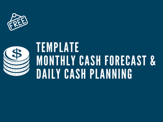 [Dokumen] Template Monthly Cash Forecast & Daily Cash Planning