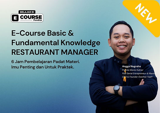 [E-COURSE] Restaurant Manager - Basic & Fundamental Knowledge