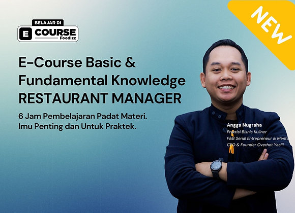 [E-COURSE] Restaurant Manager - Basic & Fundamental Knowledge