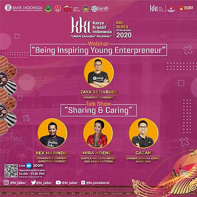 Inspiratif, CEO Foodizz menyapa GenBI di seluruh Indonesia