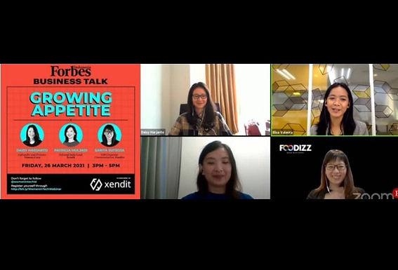 Inspiratif, Sharing Foodizz Dalam Webinar Forbes Business Talk Mengenai Bisnis Kuliner Go-Digital
