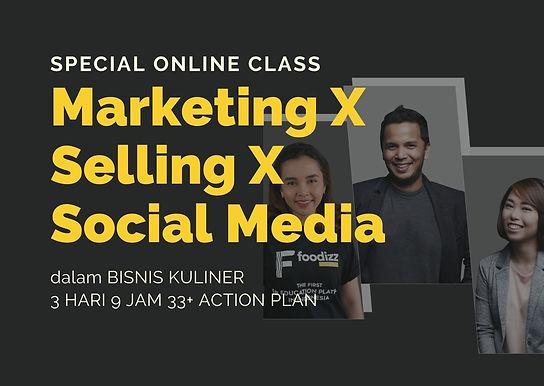 [E-COURSE] Marketing X Selling dan Social Media dalam Bisnis Kuliner