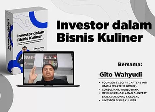 [E-COURSE] Investor dalam Bisnis Kuliner