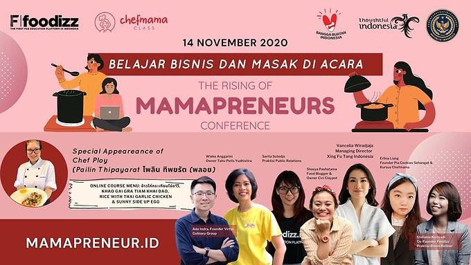 "Foodizz & Chefmama hadirkan ""The Rising of Mamapreneur Conference"""