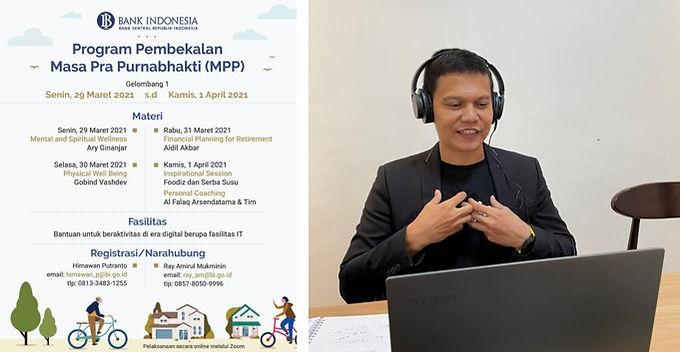 Inspiratif, Sharing Foodizz Dalam Salah Satu Sesi Program Pembekalan Masa Pra Purnabhakti (MPP) Bank Indonesia