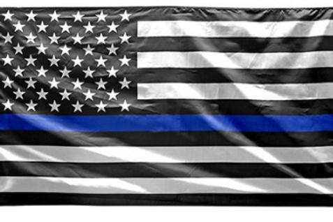 3' x 5' Blue Line Flag