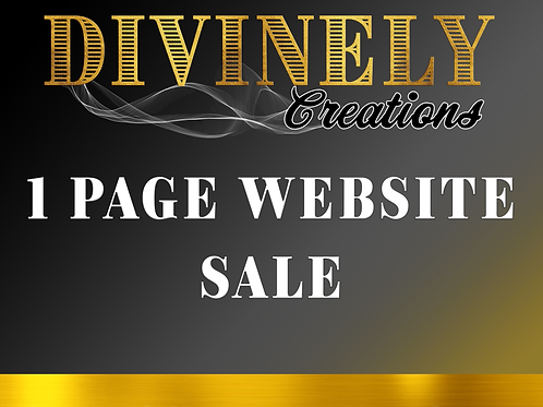 1 Page Website Sale