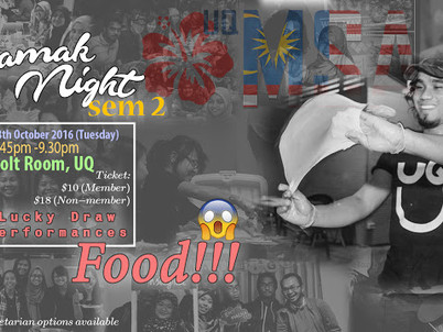 UQMSA Mamak Night Semester 2, 2016