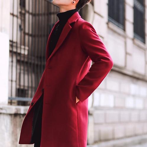 Mens Slim Fit Mid Length Overcoat