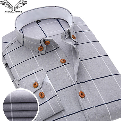 Formal Brand Clothing Business Shirts Dress Slim Fit Men Camisas Masculina