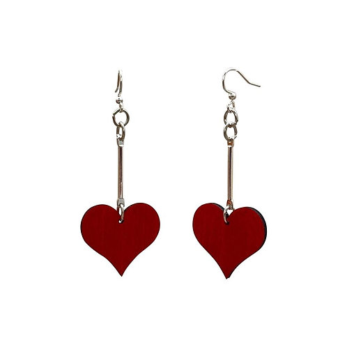 Simple Dangle Heart Earrings #T076