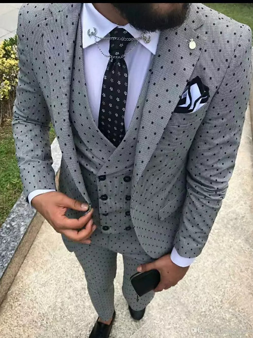 Groomsman Custom Men Suits for Wedding Traje Hombre Jacket Pant Vest