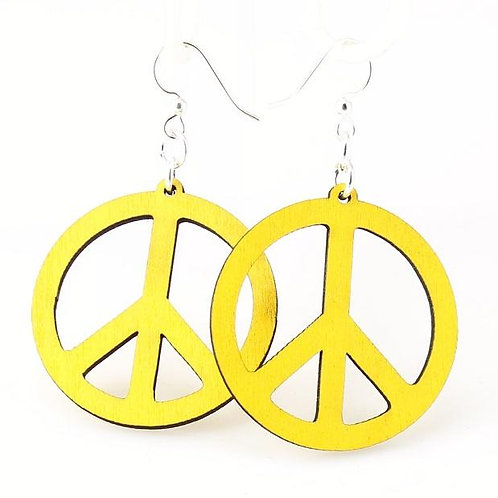 Small Peace Sign Earrings # 1053
