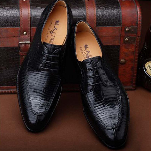 Genuine Lizard Skin Men's Business Suit Men Handmade Leather Shoes Men Shoes