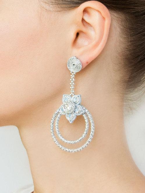 Hoop Earrings in Silver