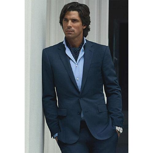 Men, Tailored Blue Tuxedo Jacket, Custom Man Suit, Costume Homme Mariage