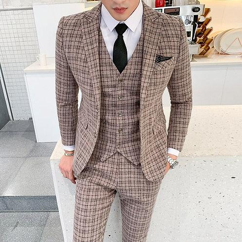 Men Fashion Casual Business Suit 3 Piece Suits Men