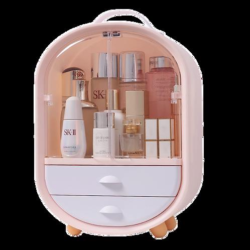 Penguin Shape Pink Dustproof Perfume Bottles Drawer Box With Handle and Door