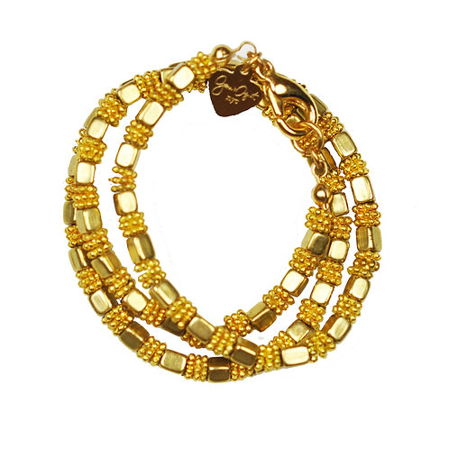 Gold Cube Bracelet