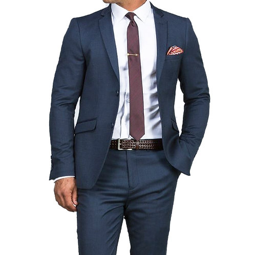 Custom Made Men Blue Suit 2019 Fashion Style Business Suits TAILORED Blue Tuxedo