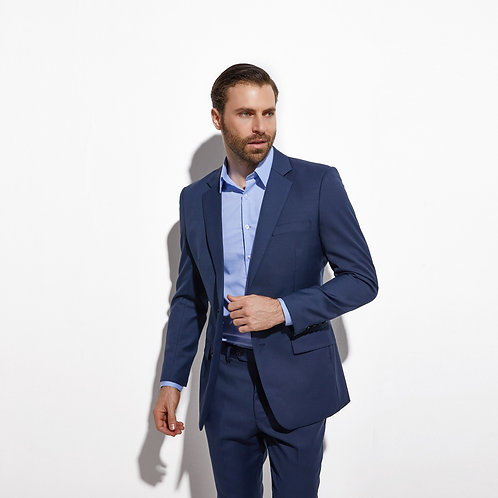 Men Custom Made Men Blue Suit Fashion Style Business Suits TAILORED Blue Tuxedo