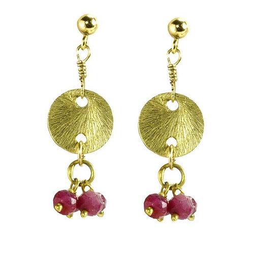 'Disk Drops' Earrings
