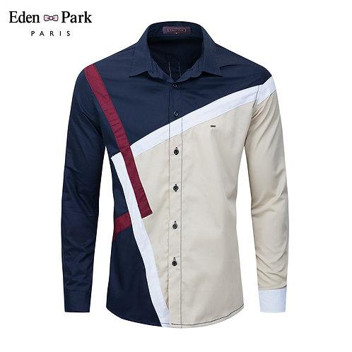 Button Down Dress Shirts Fashion Men Work Business Brand Shirt Chemise Homme